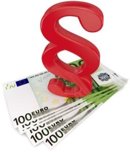 roter Paragraph Geldscheine
